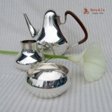 .Georg Jensen Three Piece Coffee Set Sterling Silver 1950