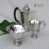 .Georg Jensen Three Piece Coffee Set Sterling Silver 1930