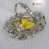 .Ornate Basket Sterling Silver Knowles 1890