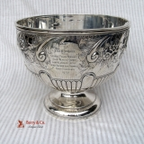.Large Ornate Punch Bowl Sterling Silver 1895