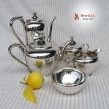 .Arts and Crafts 5 Piece Tea and Coffee Set Karl Leinonen Sterling Silver 1940