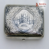 .Russian 84 Silver Niello Tobacco Box Moscow 1891
