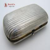 .Russian 84 Standard Silver Cigarette Case Moscow 1883
