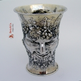 .Bacchus God of Wine Figural Beaker 800 Silver 1890