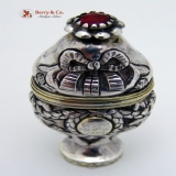 .18th Century Spice Box Continental 800 Silver 1796