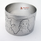 .Buster Brown Tige Napkin Ring International Sterling Silver 1910