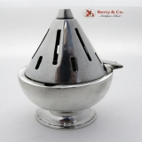 .Vintage 1960s Modernist Spaceship Mustard Pot Sterling Silver