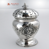 .Medallion Sugar Shaker Sterling Silver Wood and Hughes 1870