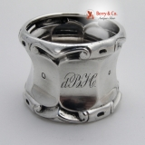 .Baroque Dutch Napkin Ring 833 Standard Silver 1863 Monogram dBH