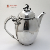 .Blossom Coffee Pot Carl M Cohr Danish Sterling 1930 No Monogram