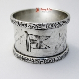 .R M S Jebba Sterling Silver Napkin Ring Sheffield 1905