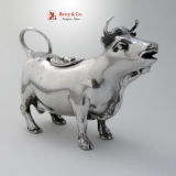 .Sterling Silver Cow Creamer Shreve and Co 1900