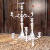 .Austrian Candelabra Eagle Finials 800 Standard Silver Maker′s Mark AB 1890