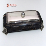 .Table Box Marble Sterling Silver McChesney 1925 No Monograms