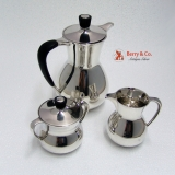 .Art Moderne Coffee Set Gorham Sterling Silver 1952 No Monograms