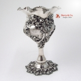 .Secret of the Flowers Large Vase Unger Brothers Sterling Silver 1904