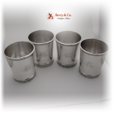 .Set of 6 Julep Cups or Beakers Gorham Sterling Silver 1882