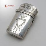 .Georgian Scent Bottle Samuel Pemberton 1798 Sterling Silver No Monogram
