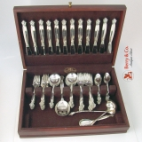 .Acanthus 65 Piece Dinner Flatware Set Georg Jensen Sterling Silver 1945