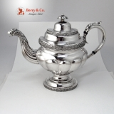 .Ferderal Eagle Spout Teapot Coin Silver New York 1830 No Monogram