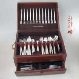 .Tulip Michelsen Service for 12 Sterling Silver Denmark 108 pieces 1950