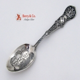 .Louisiana Souvenir Spoon 3 Black Boys Bowl Watson 1900 Sterling Silver