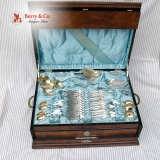 .Comstock 84 Piece Large Dinner Set Vanderslice 1874 Coin Silver
