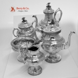 .Large 5 Piece Tea and Coffee Set 950 Ball Black and Co New Yourk 1880