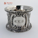 .Coin Silver Ornate Napkin Ring 1860