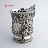 .Repousse Cup Sterling Silver Welsh and Bro Baltimore 1885