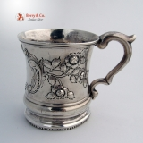 .Coin Silver Christening Cup Wm Ladd New York 1865
