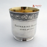 .Mother Goose Nursery Rhyme Cup Gorham Sterling Silver 1907