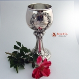 .German Ornate Goblet 800 Solid Silver 1896
