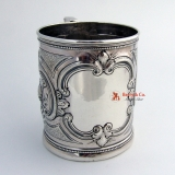 .Vanderslice Floral Repousse Cup Sterling Silver 1875