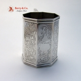 .Coin Silver Octagonal Cup Eoff and Phyfe 1845