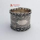 .Early Napkin Ring Coin Silver 1860