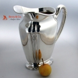 .Orchid Art Deco Water Pitcher Interntional Sterling Silver 1929 No Monogram