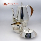 .Diamond Coffee Set Reed and Barton 1960 Sterling Silver No Monograms