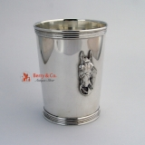 . Julep Cup Beaker Horse Head Sterling Silver Benjamin Trees Kentucky
