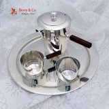 .Arts and Crafts 4 Piece Coffee Set Porter Blanchard Sterling Silver