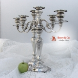 .Louis XV Three Light Pair of Candelabra Gorham Sterling Silver