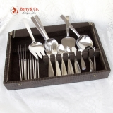 .Arts and Crafts Flatware Set 72 Pcs. Porter Blanchard Sterling Silver 1940