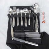 .Swedish Modern Flatware Set Allan Adler Sterling Silver 1969