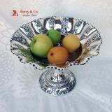 .Repousse Fruit Bowl Mappin Webb Sterling Silver 1902 No Monogram