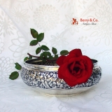 .Repousse Floral Bowl Whiting 1885 Sterling Silver No Monogram