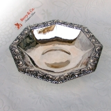 .Arts and Crafts Floral Bowl German 800 Silver 1900 No Monogram