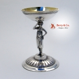 .Prague Figural Salt Dish 813 Silver 1820 Maker′s Mark C•D