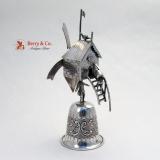 .Dutch Windmill Goblet Sterling Silver Novelty Item