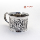 .Sterling Silver Follow The Leader Baby Cup Gorham 1906