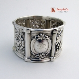 .American Coin Silver Repousse Napkin Ring 1850